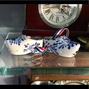 "Vintage ""Royal Delft"" Holland Clogs"